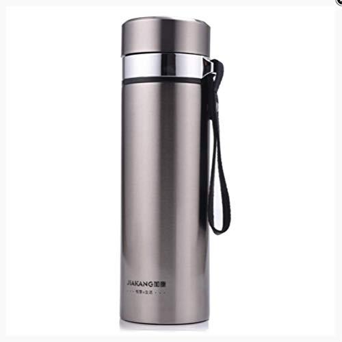 jklv Vakuum 304 Edelstahl Isolation Cup Herren Damen Sling Teacup Outdoor Warmwasser Flasche Auto Wasser Cup 450ml -
