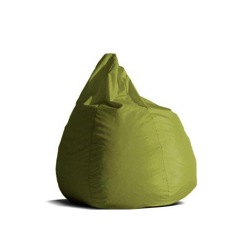 Pouf-poltrona-sacco-media-BAG-L-Jive-tessuto-tecnico-antistrappo-verde-acido-imbottito-Avalon