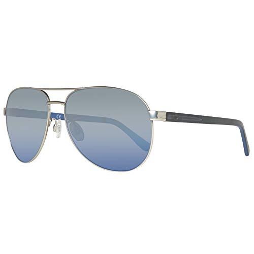 Timberland sonnenbrille tb9086 6214d, occhiali da sole uomo, argento (gunmetal), 62