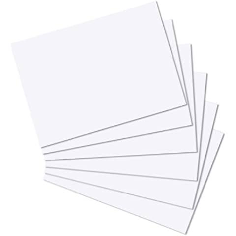Herlitz - Fichas de registro (100 unidades, A4), color blanco