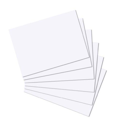 Herlitz 10835809 Karteikarten A4 100 Stück, blanko, weiß und holzfrei (Papier Weißen Cardstock)