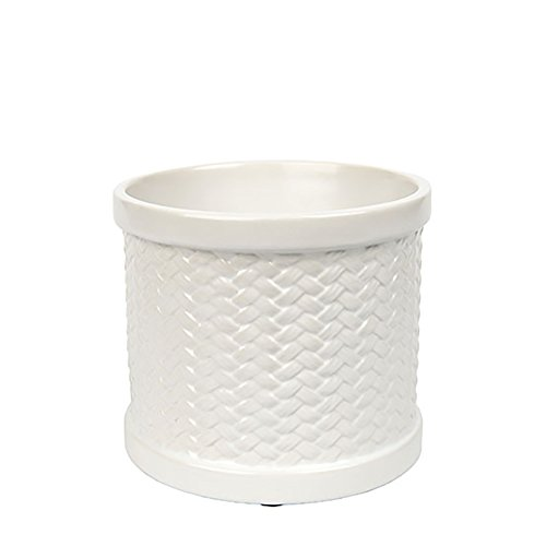 Yankee Candle Weave MeltCup, Keramik, weiß, 11 x 12.5 x 11 cm (Yankee Scenterpiece Candle)