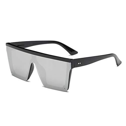 Wenkang Big Frame Sonnenbrillen Fashion Men Übergroße Sonnenbrille Damen Flat Top Driving Sunglass One Eyewear UV400,5