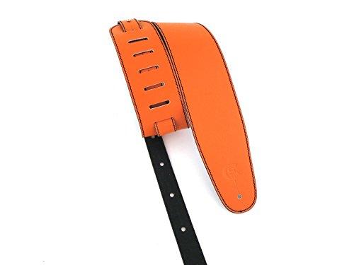 Tracolla per chitarra e basso pelle larghezza 8 cm Custom Style T803S (arancione)