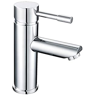 Incor | Bathroom Sink Monobloc Mini Mixer Tap. Round Classic Chrome Mini Cloakroom Basin Faucet. Set Includes Sprung Waste