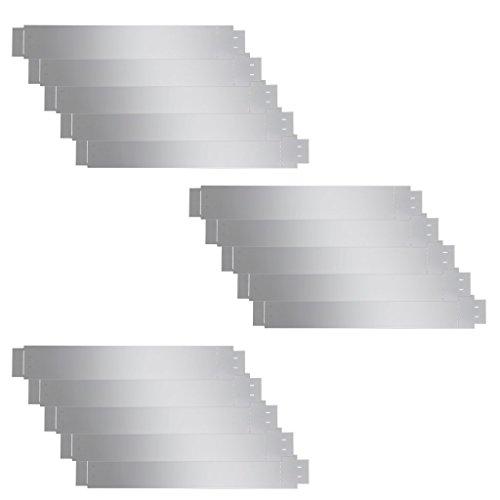 Anself Bordura per Aiuole Flessibile Set 15 pz in Acciaio Galvanizzato 100 x 15 cm