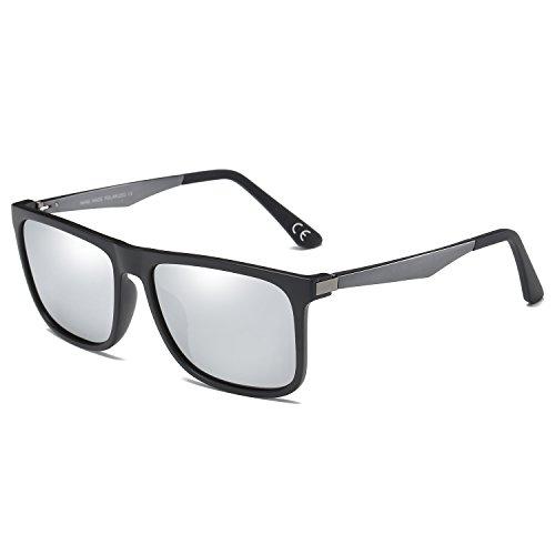 77163348c4 BVAGSS Hombre Al-Mg Metal Polarizado Gafas De Sol (WS040) (Sand Black