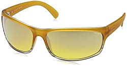 Police Iridium Sport Mens Sunglasses (S1863M71AEXXSG|71|Yello with Silver Mirror lens)