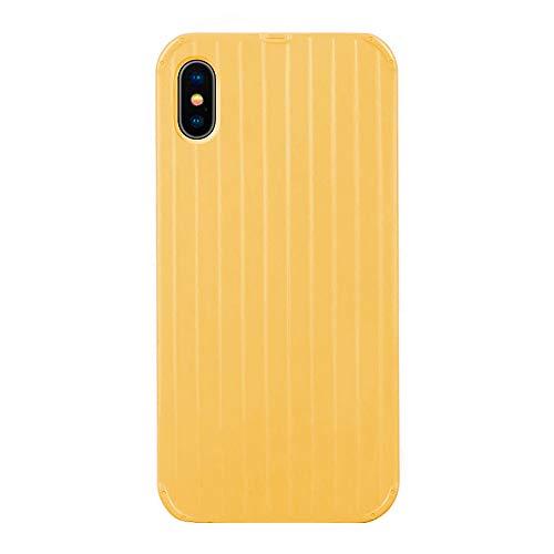Alsoar Hülle kompatibel mit iPhone XS Max Weiche Silikon Hülle,iPhone XS Max Handyhüllenset,Muster TPU Bumper Hart Tasche Hülle,Durchsichtig Transparent Stoßfest Schutzhülle (Gelb)