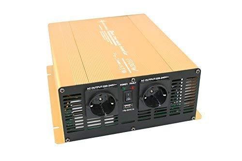 Wechselrichter - Spannungswandler 12V 300 bis 3000 Watt reiner SINUS mit echtem Power USB 2.1A Gold Edition … (1500-3000 Watt)