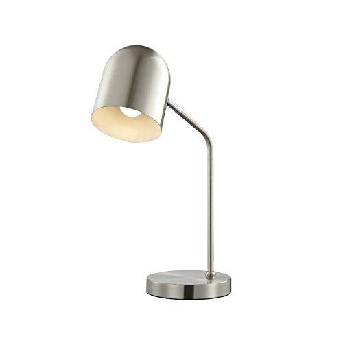 Wohnorama LED Tischleuchte 1-flg PETTO von Nino Nickel matt by (Auf Nickel-tischleuchte Eine)