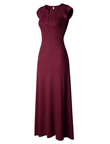 NEARKIN Damen Kleid, Durchgehend Gr. X-Large, NKNKWBLD674-BURGUNDY (Couture Black Tie)