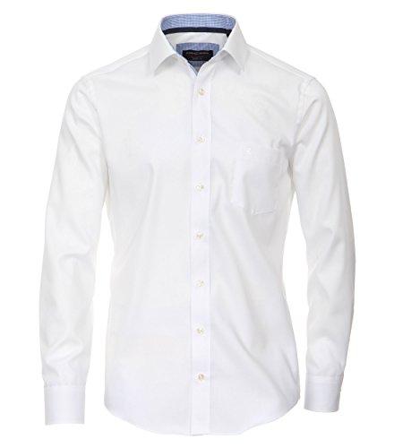 Casa Moda - Modern Fit - Bügelfreies Herren Business langarm Hemd in verschiedenen Farben (362440100) Weiß (000)