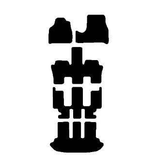 Citroen C8Teppiche Schwarz für Auto, Komplettset-Gummimatten passgenau schwarz