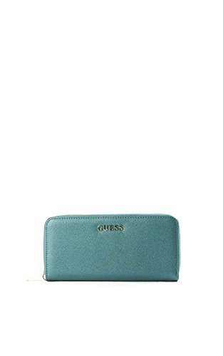 Guess Isabeu Woman Wallet Large Zip Around Teal