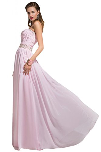 Sunvary Sweety fondo arricciato Bridesnaid donna in Chiffon Prom Gowns pavimento Grape