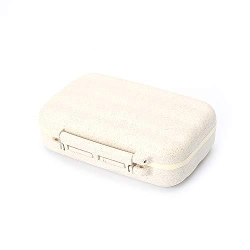 Ruikey Pillendose 7 Tage,2 Schichten, 8 Fächer,Abnehmbar,Pillenbox Tablettendose Tabletten Box für Reise