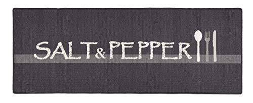 Hanse Home 102395 Teppichläufer, Polyamid, grau, 67 x 180 x 0.8 cm