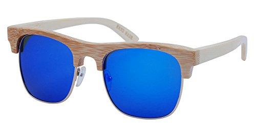 Insun Herren Sonnenbrille Gr. Einheitsgröße, Mehrfarbig - 2010-MC4 Wood Frame