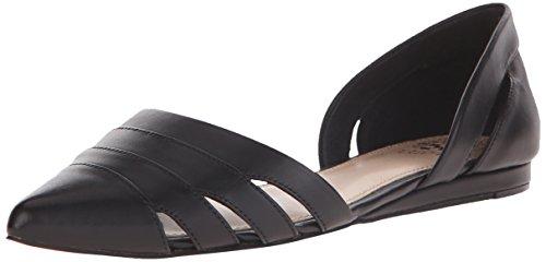 Vince Camuto Halette Femmes Cuir Chaussure Plate Black
