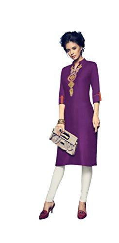Leriya fashion Kurti Women's Clothing Kurti for Women Latest Designer Wear Kurti Collection in Latest Kurti Beautiful Bollywood Kurti for Women Party wear Offer Designer Kurti (Purple, Large)
