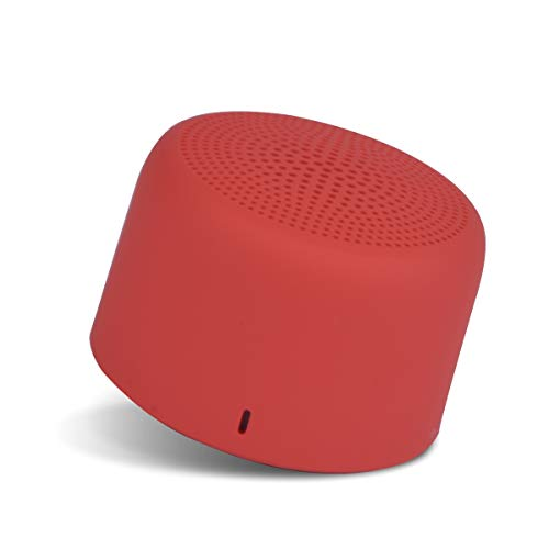 Portronics PICO Bluetooth 5.0 Personal Mini Portable Stereo Speaker with TWS, Crisp, Loud and Clear 3W, Red