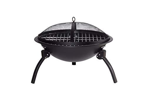 Qlima FFGW 4556 Barbecue per l\'aperto e bistecchiera A Legna Kettle Nero