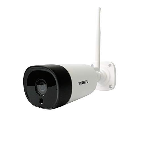 1080P WLAN Überwachungskamera für Außenbereich IP66 WINSAFE IP Kamera Outdoor 30m IR-Nachtsicht,110 ° Weitwinkel,Zwei-Wege-Audio,Bewegungserkennung,CMS Fernzugriff,für PC, Smartphone,Tablet -