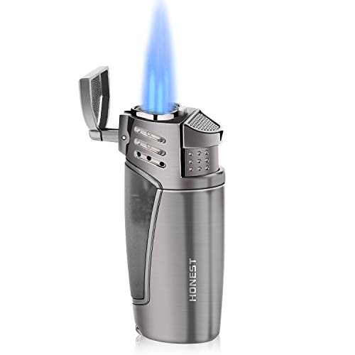 Gas encendedor Cigarrillos, Jet Mechero 3 Llamas Gas Recargable Resistente...