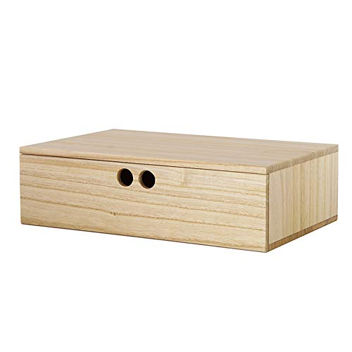 LI MING SHOP Volkskunst Aus Holz Schmuck Aufbewahrungsbox Display Pad Erhöhten Schreibtisch Oberfläche Kombination Box Box Schublade (Color : Varnish color, Size : 23.2x36x10.5cm) -