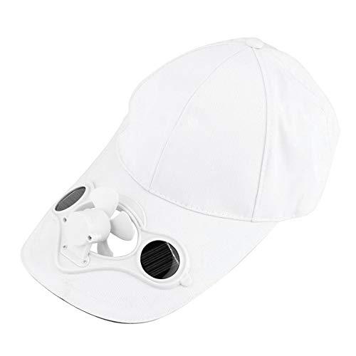 Solar-cool Cap (Lesiey Angeln Sommer Sport Outdoor Hat Cap Mit Solar Sun Power Cool Fan Für Radfahren Energie sparen Keine Batterien erforderlich - Wei?)
