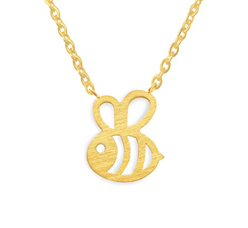 Altitude Boutique Bumble Bee Halskette,Honig-Bienen-Halskette motherâ S Day,Geburtstag,Verlobung,Valentineâ S Day,Jahrestag Gold