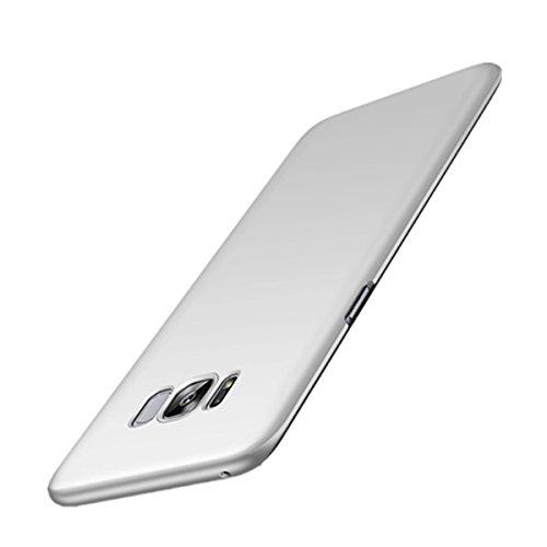 Funda-Samsung-Galaxy-S8-Vanki-PC-dura-funda-del-parachoques-Ultra-Slim-Absorcin-de-y-esmerilado-para-Samsung-Galaxy-S8-Plata