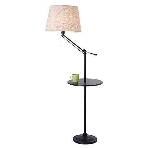 LILY Nordic Stoff Regal Stehleuchte, kreative Einfachheit American-Style verstellbare vertikale Lampe, Wohnzimmer Schlafzimmer Couchtisch Stehlampe ( Color : Black ) (Wicker Couchtisch)