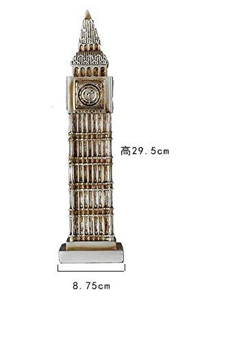 KOONNG Salotto Creativo Big Ben Pisa Torre Pendente Decorazione Decorazioni per la casa Arredamento Moderno Americano armadietto Vino Morbido Decorazio