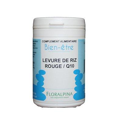 LEVURE RIZ ROUGE Q10 - Fabriqué en France - Une aide précieuse pour les personnes souhaitant contrôler leur taux de cholestérol.
