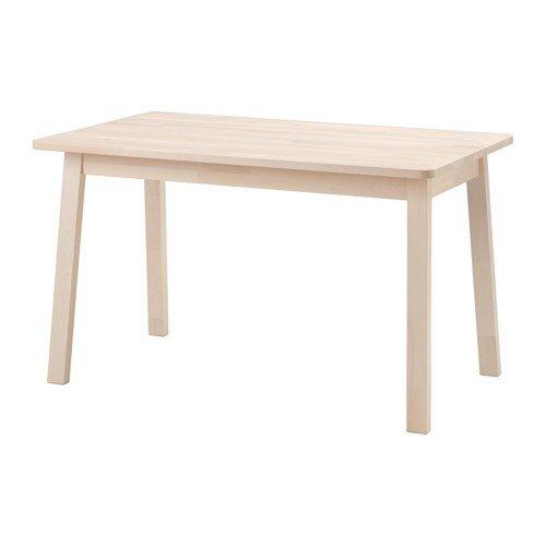 Ikea NORRAKER Tisch aus massiver Birke; (125x74cm)