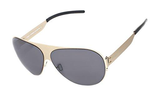 rainbow safety Herren Sonnenbrille MED Limitierte Edition Edelstahlrahmen UV400 Schutz O1020-GO