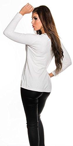 Koucla - Pull - Femme S/M Blanc