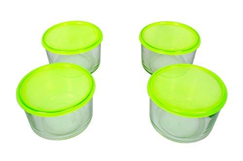 Black Butterfly Bowls With Lid 4 Pcs Glass Bowl Set Glassware, Serve Bowl