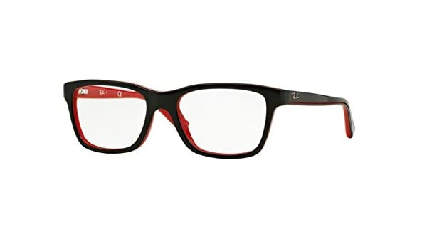 925dc1922cb RAY BAN R Y1536 Eyeglasses 3573 Top Black On Red 46-16-125  Amazon.co.uk   Clothing