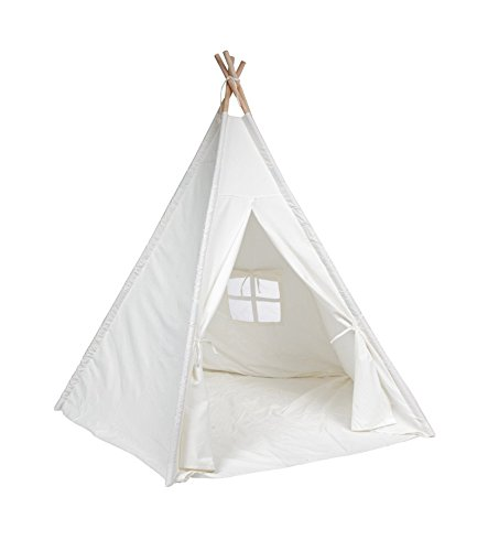 decestar-teepee-tent-for-kids-100-natural-cotton-canvas-play-tent-for-kids-come-with-mattress-and-ca