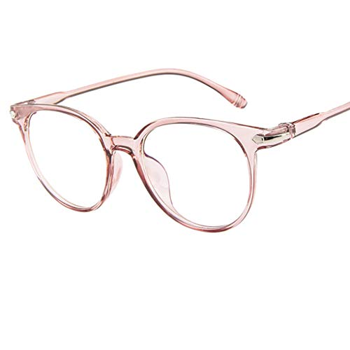 VRTUR Klassische Nerdbrille rund Keyhole 40er 50er Jahre Pantobrille Vintage Look clear lens Anti Blaulicht Computer Brillen