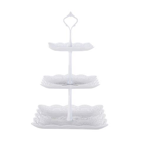 Maleya 3-Tier Cupcake Stand Kuchen Dessert Hochzeit Party Display Tower Plate Stabiler Runder Metall Cupcake Muffin Ständer Einfach zu Ausstellungs-Stand für Hochzeiten, Baby Showers und Partys (3-tier-schwarz-kuchen-stand)