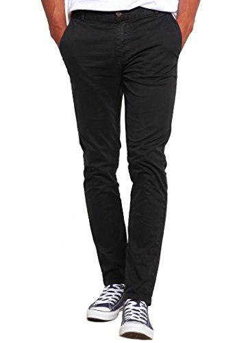 Chino-Hose für Herren Slim-Fit in Grau Anthrazit von ★ The Style Room ★ Stylische Männer-Stoffhose, eng Skinny-Fit, 31