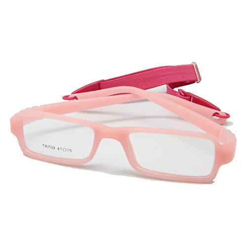 EnzoDate Baby von Brillen und Gurt, Rechteck Kinder Brille Frame mit elastischem, weichem ein Stück Abschnitt & Band Hilfstruppen, Größe 41/15, Mehrfarbig