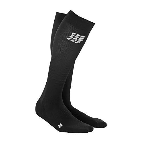 CEP - Compression Socks für Herren   Knielange Sportsocken mit Kompression in schwarz   Größe IV