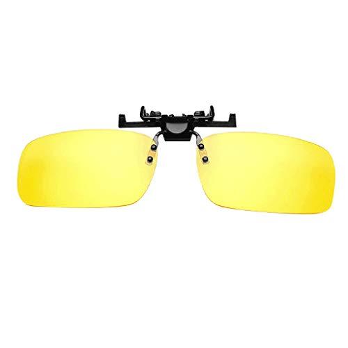 LCLrute Sonnenbrillen,Polarisiert Clip-on-Sonnenbrille Unisex Flip Up über Korrekturbrillen Fahren Verspiegelt UV-Schutz