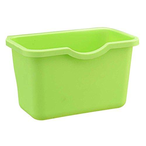 Setsail Hängender Abfallbehälter Aufbewahrungsbehälter der Küche Küchen Abfalleimer Multifunktions Abfallbehälter, Bio Mülleimer, Abfallsammler zum Hinstellen oder zum Anhängen (Grün)