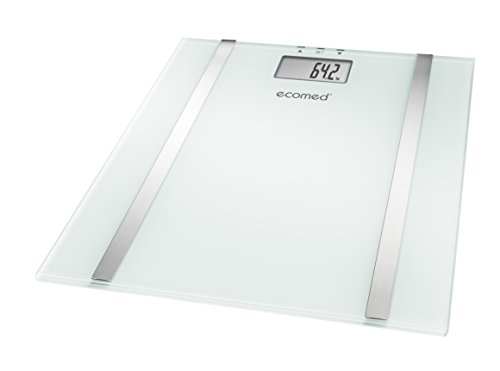Medisana BS-70E digitale Körperanalysewaage bis 150 kg - Personenwaage zur Messung von Körperfett, Körperwasser und Muskelmasse - Körperfettwaage aus Glas - 23501